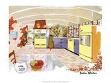 Mid Century Modern Kitchen, Italian Poster