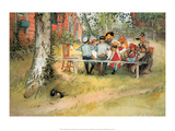 Breakfast Under the Birch Trees Prints by Carl Larsson