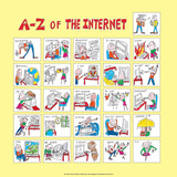 A - Z of the Internet Print by Nicola Streeten