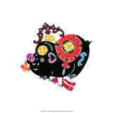Chinese Paper Cut, Black Pig Prints