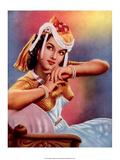 Vintage Bollywood Star, Shyama Print