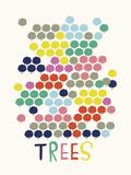 Techno Giclee Print by Laure Girardin Vissian
