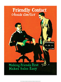 Vintage Business Making Friends Poster
