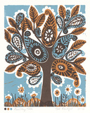 Paisley Tree Giclee Print by Zoe Badger