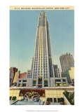 Vintage New York Postcard -R.C.A Building Rockefeller Centre Prints