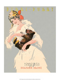 Vintage Music Sheet, Pizzi-Puzzi, Girl with Baby Bear Posters