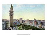 Vintage New York Postcard - Madison Square Poster