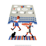 Children Laying the Table Posters