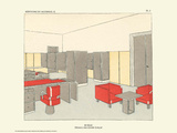 Art Deco French Interior Design Illustrations Posters