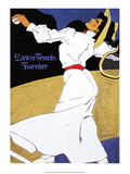 Vintage Tennis Poster, 1908 Print