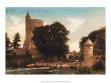 Vintage Postcard, Minnewater, Bruges Art