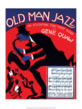 Vintage Music Sheet, Old Man Jazz Poster