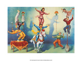Chinese Circus with Acrobats Art