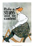 Vintage Bicycle Poster, Stearns Art