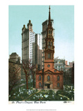 Vintage New York Postcard - St Paul's Chapel Prints