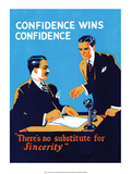 Vintage Business Confidence wins Confidence Poster