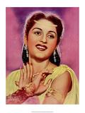 Vintage Bollywood Star, Bina Rai Art