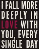 Fall in Love Giclee Print by Sasha Blake