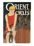 Vintage Bicycle Poster, Orient Print