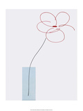 One Daisy Flower in vase Print by Takashi Sakai