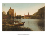 Vintage Postcard, Lac d'Amour, Bruges Posters