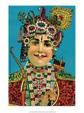 Vintage Indian Bazaar Art