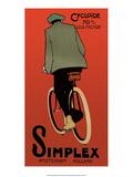 Vintage Bicycle Poster, Simplex, Amsterdam Láminas