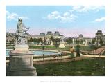 Vintage Paris Postcard - Jardin de Tuileries Plakát