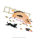 Pig on the Farm Prints