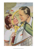 Retro Tennis Postcard, Love Match Prints