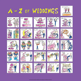 A - Z of Weddings Prints by Nicola Streeten