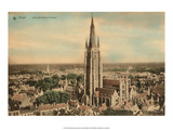 Vintage Postcard, Notre-Dame Church in Bruges, Prints