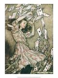 Alice i Eventyrland, på engelsk Poster af Arthur Rackham