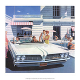 Convertible by the Swimming Pool, Mid-Century Modern Ad Prints