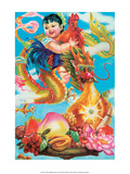 Chinese Happy New Year Baby Bringing Luck Posters