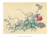 Japanese Flowers Prints by Haruna Kinzan