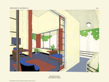 Art Deco French Interior Design Illustrations Print