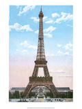 Vintage Paris Postcard - Eiffel Tower Art