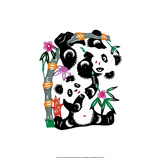 Chinese Paper Cut, Two Playful Pandas Poster