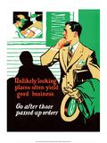 Vintage Business Unlikely looking places - Art Print
