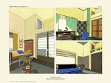 Art Deco French Interior Design Illustrations Art