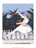 Retro Tennis Poster, Woman Player, 1920s Prints