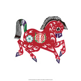 Chinese Paper Cut, Zodiac Horse Prints