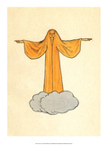 Orange Ghost on a Cloud Posters