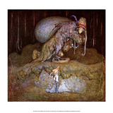 Boy Meeting a Troll in the Forest Prints by John Bauer