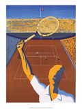 Vintage Tennis Poster Posters