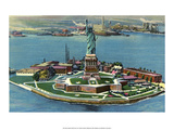 Vintage New York Postcard - Statue of Liberty Prints
