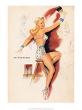 Retro Pin Up, Painting the House Red Posters by Freeman Elliott