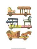 Wooden Horse & Cart - Folk Toys Poster by Emanuel Hercik