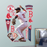 Dustin Pedroia - Throwing Wall Decal